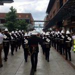 Gunwharf Quays Naval marching band