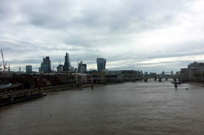 East London view grey day