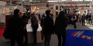 Professionals at UK design business exhibition