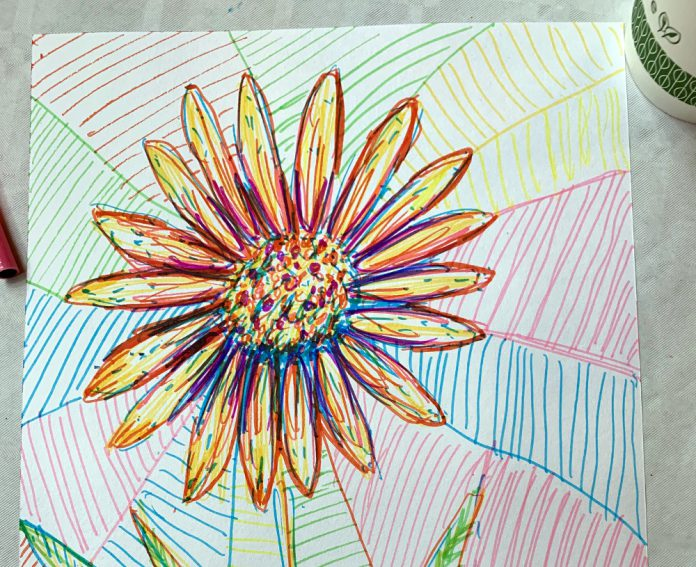 Sunflower at Van Gogh event Drapers Hall