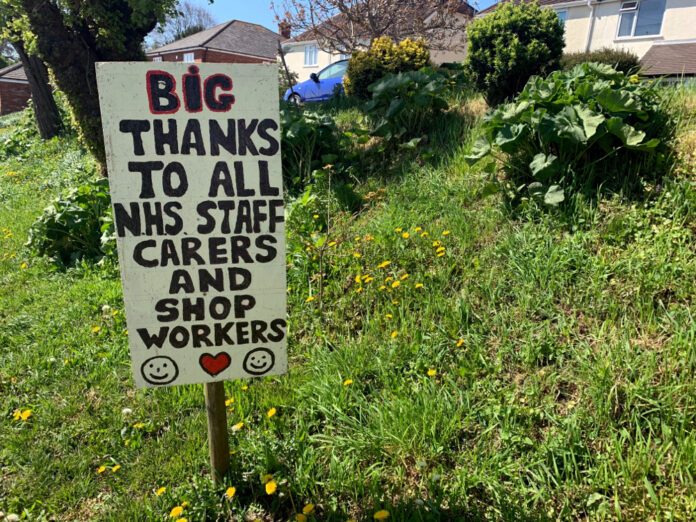 Thanks to Key Workers Sign photo by A Howse