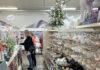 Ladies choose Christmas decorations at Polehill garden centre