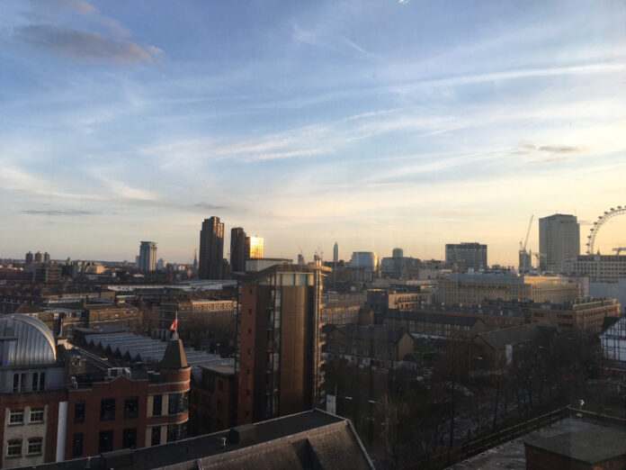 London cityscape looking towards Canary Wharf photo by A Howse
