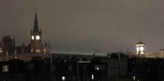 Grays Inn, Camden , night sky, photo by A Howse