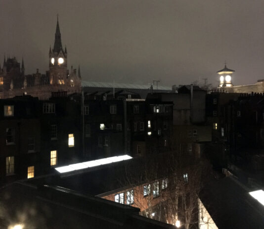Grays Inn, Camden , night sky, photo by A Howse