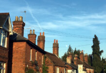 Houses and chimneys in Sevenoaks, Kent