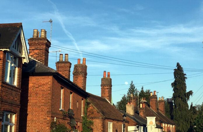 Houses and chimneys in Sevenoaks, Kent