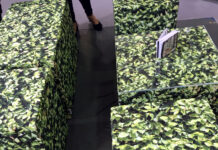 Mero Wings Hornbeam seating cubes at Top Drawer show, London