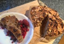 Cooking Apple and Coconut Cake with Pudding recipe by A Howse