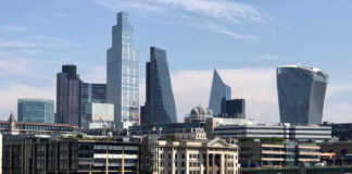 City of London view from Southbank, photo by A Howse
