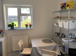 Modern kitchen ready for new lodger arriving