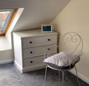 Bedroom storage and seating suitable for lodgers