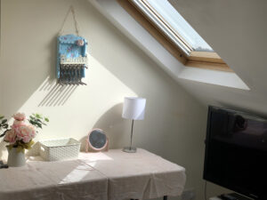 Attice bedroom desk and dressing table